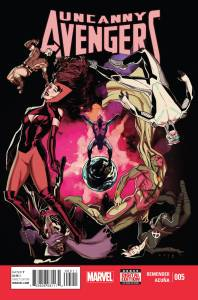 Publisher: MARVEL COMICS (W) Rick Remender (A) Daniel Acuña (CA) Kris Anka • The truth that will shatter the Scarlet Witch and Quicksilver. •  War between the Low and High Evolutionary. •  An Avenger has to choose between his friends and a perfect future. Item Code: MAR150698
