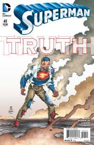 "Publisher: DC COMICS (W) Gene Luen Yang (A/CA) John Romita, Klaus Janson The epic new storyline ""TRUTH"" continues with the debut of the amazing new creative team of new writer Gene Luen Yang (American Born Chinese) and continuing artists John Romita Jr. and Klaus Janson! What will happen when the big secret is revealed? Item Code: APR150252"